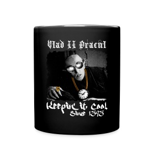 Pimp Dracula - Vlad II Dracul - White Text - Full Color Mug