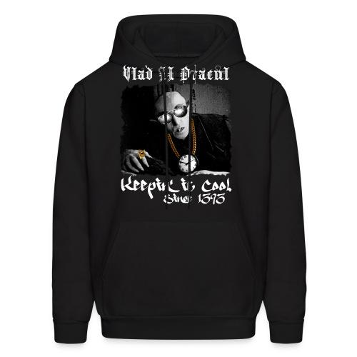 Pimp Dracula - Vlad II Dracul - White Text - Men's Hoodie