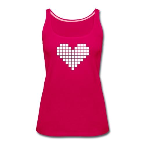 Pixel Heart - Women's Premium Tank Top