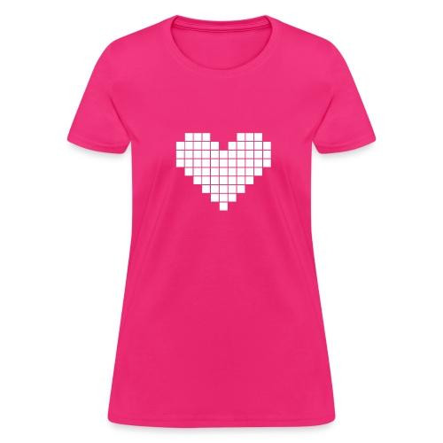 Pixel Heart - Women's T-Shirt