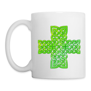 Green Celtic Cross I - Coffee/Tea Mug