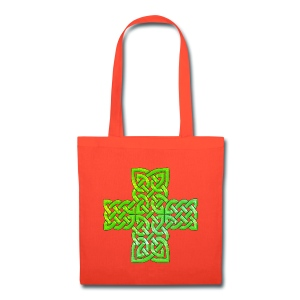 Green Celtic Cross I - Tote Bag