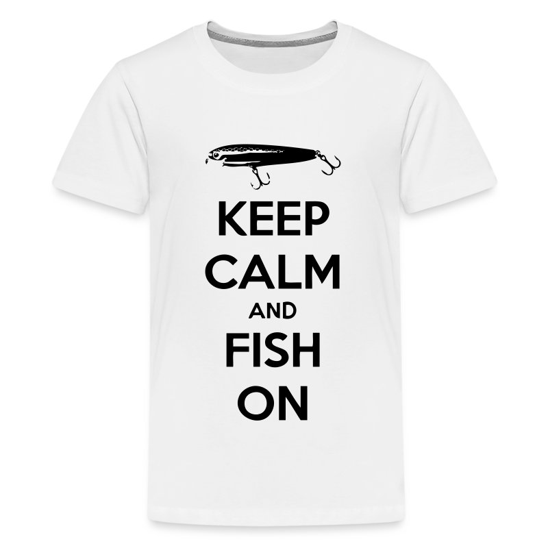 Keep calm and fish on t shirt spreadshirt for T shirt design keep calm