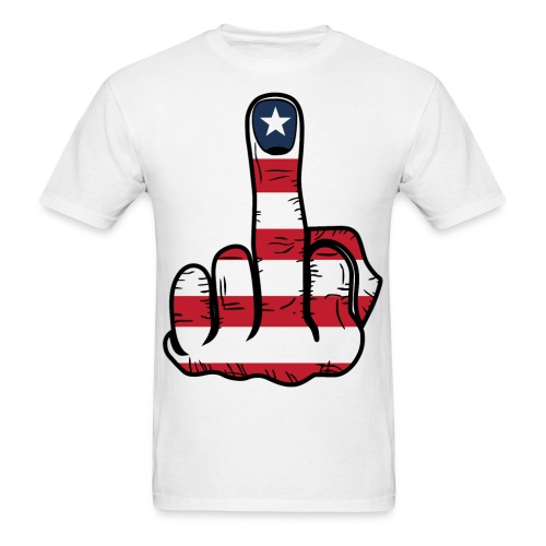 Middle Finger USA Flag - Men's T-Shirt