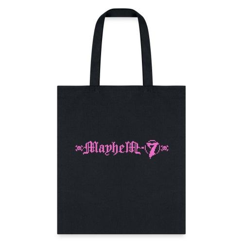 MayheM-7 - Pixel Logo 2 - Pink - Tote Bag