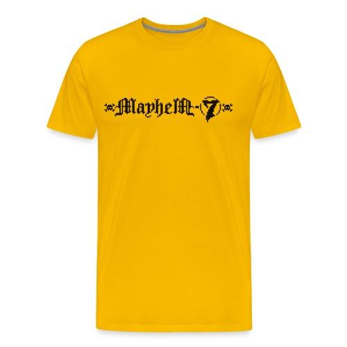 MayheM-7 - Pixel Logo 2 - Black - Men's Premium T-Shirt