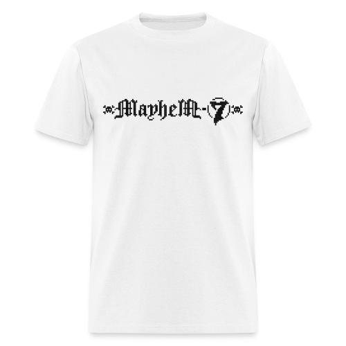 MayheM-7 - Pixel Logo 2 - Black - Men's T-Shirt