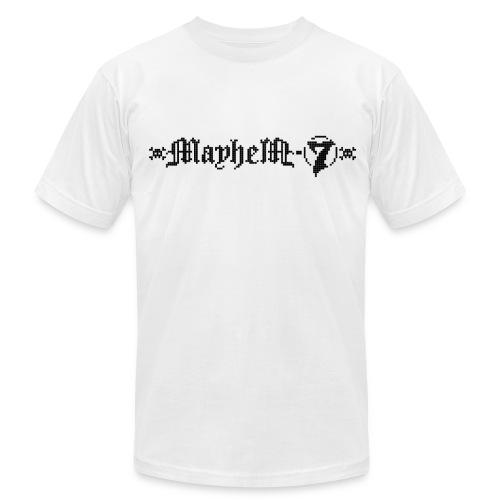 MayheM-7 - Pixel Logo 2 - Black - Men's Fine Jersey T-Shirt