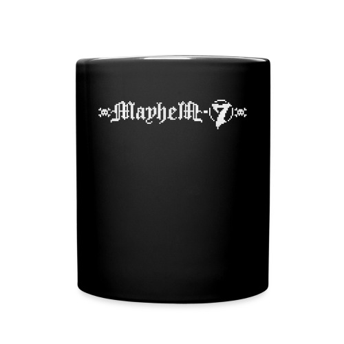 MayheM-7 - Pixel Logo 2 - White - Full Color Mug
