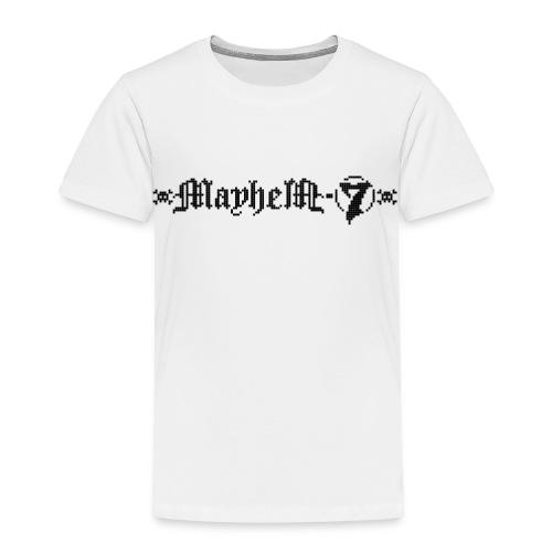 MayheM-7 - Pixel Logo 2 - Black - Toddler Premium T-Shirt