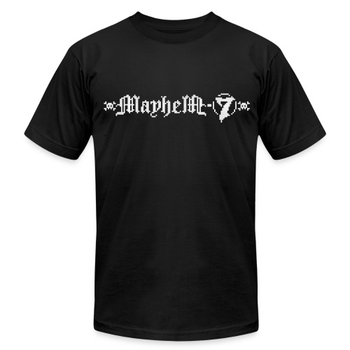 MayheM-7 - Pixel Logo 2 - White - Men's Fine Jersey T-Shirt
