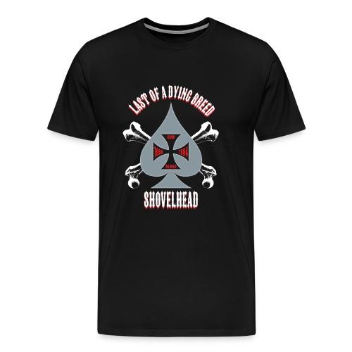 Men's T-Shirt - Grey Spade 3-4xl - Men's Premium T-Shirt