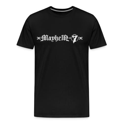 MayheM-7 - Pixel Logo 2 - White - Men's Premium T-Shirt