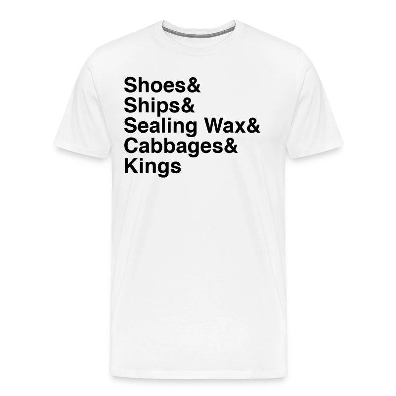 Mens W&B The Walrus Quote from Alice In Wonderland - Men's Premium T-Shirt