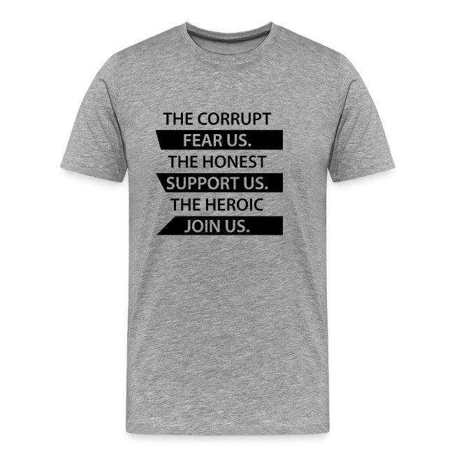Corrupt Fear Us Premium T-Shirt - MEN