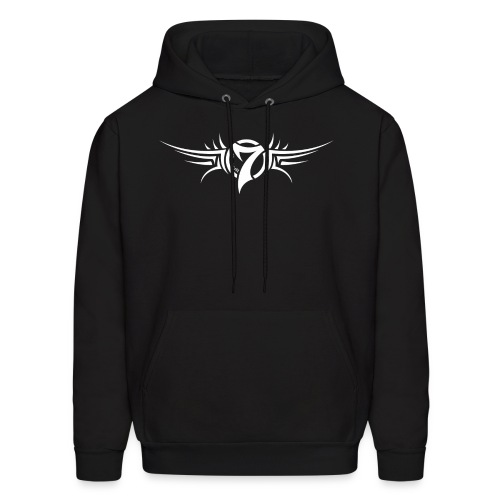 MayheM-7 - Tattoo Logo - White - Men's Hoodie