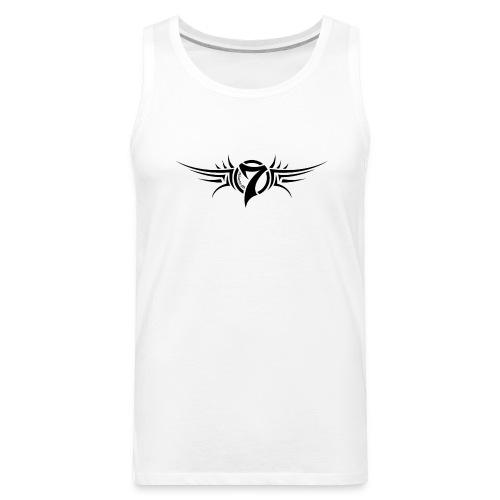MayheM-7 - Tattoo Logo - Black - Men's Premium Tank