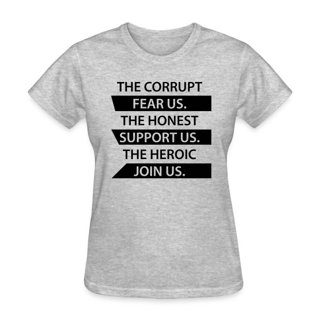 Corrupt Fear Us T-Shirt - WOMEN