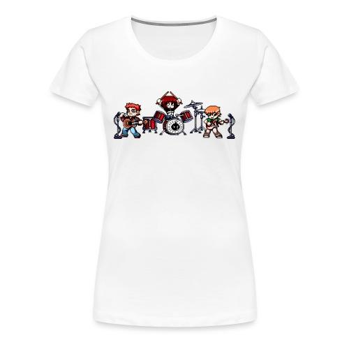 Pixel Band - Women's Premium T-Shirt