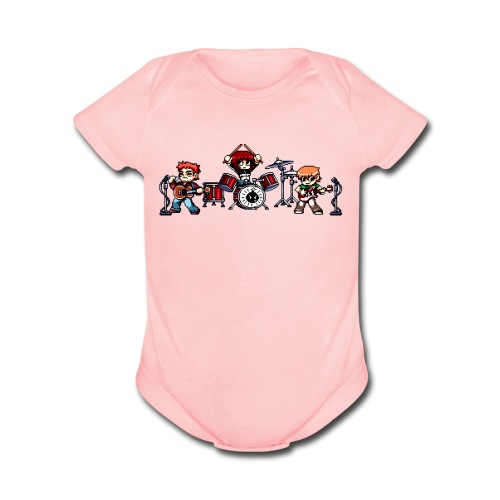 Pixel Band - Organic Short Sleeve Baby Bodysuit