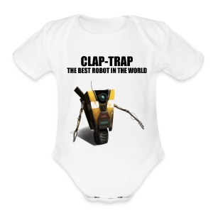 Claptrap - The Best Robot In The World - Short Sleeve Baby Bodysuit
