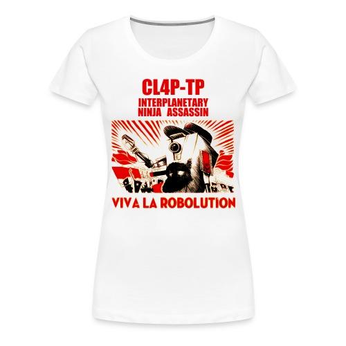 Claptrap - Viva la Robolution - Women's Premium T-Shirt