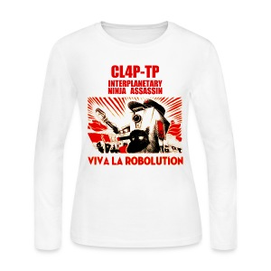 Claptrap - Viva la Robolution - Women's Long Sleeve Jersey T-Shirt