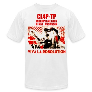 Claptrap - Viva la Robolution - Men's T-Shirt by American Apparel