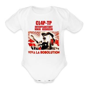 Claptrap - Viva la Robolution - Short Sleeve Baby Bodysuit