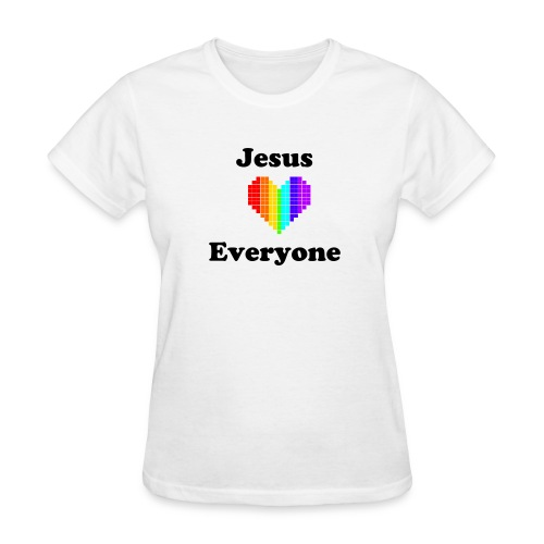 Women's White T Rainbow Love - Women's T-Shirt