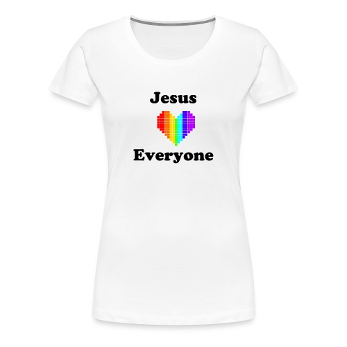 Women's White Plus-Size T Rainbow Love - Women's Premium T-Shirt