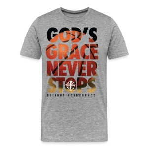 God's Grace Gray Tee - Men's Premium T-Shirt