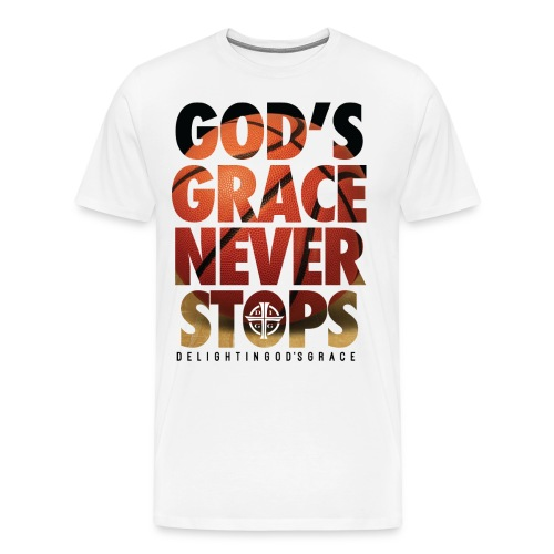 God's Grace White Tee - Men's Premium T-Shirt