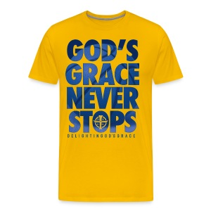 God's Grace Gold Tee - Men's Premium T-Shirt