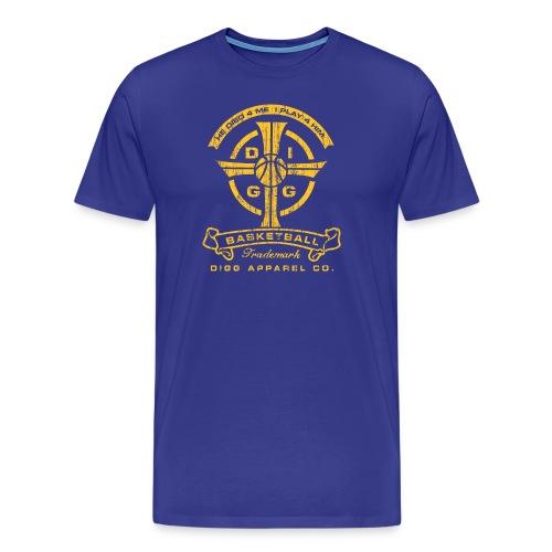 Basketball Cross Royal Tee - Men's Premium T-Shirt