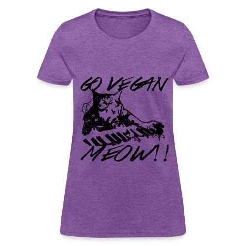 Go Vegan Meow!!! - Women's T-Shirt