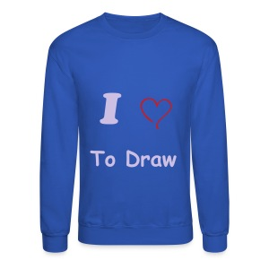 Crewneck Sweatshirt - t-shirt,men t-shirt,love,heart,draw,artist,art,I love