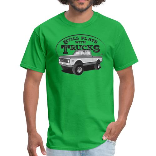 1972 C10 Short Fleetside 4x4 Tee (Black graphic) - Men's T-Shirt