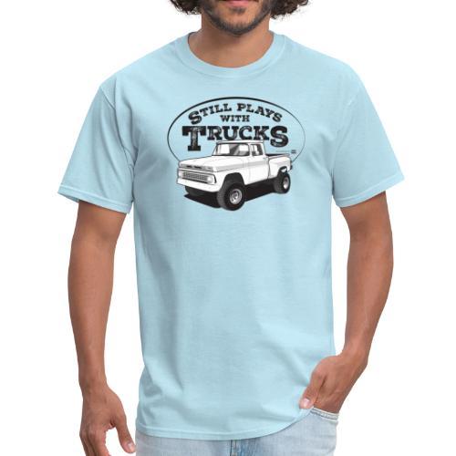 1963 Chevy C10 Short Stepside 4x4 Tee (Black graphic) - Men's T-Shirt