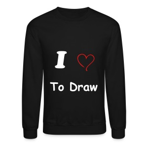 Crewneck Sweatshirt - t-shirt,men t-shirt,love,heart,draw,black t-shirt,artist,art,I love