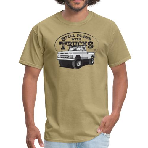 1964 GMC Short Stepside 4x4 Tee (Black graphic) - Men's T-Shirt
