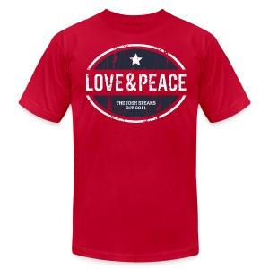 Love & Peace Motivational Men's T-Shirt - Men's Fine Jersey T-Shirt