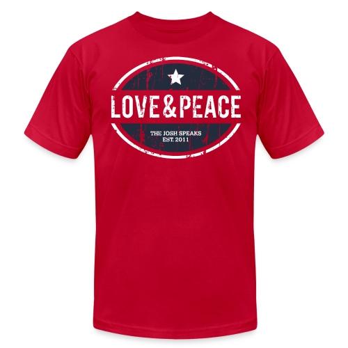 Love & Peace Motivational Men's T-Shirt - Men's  Jersey T-Shirt