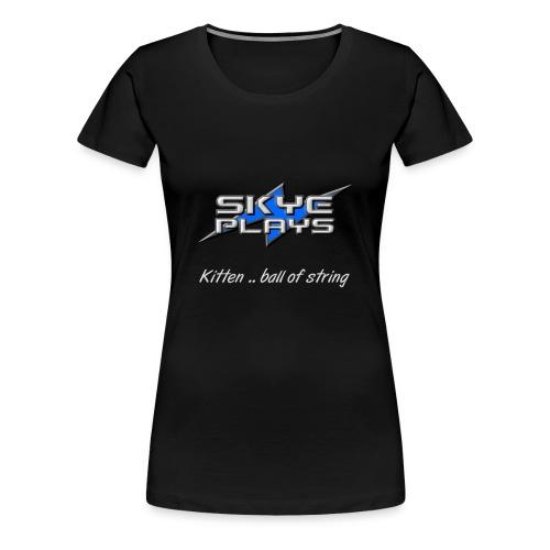 Kitten .. ball of string (Steel) - Women's Premium T-Shirt