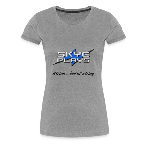 Kitten .. ball of string (Black) - Women's Premium T-Shirt