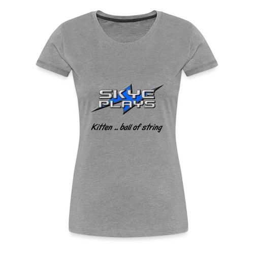Kitten .. ball of string (Black) - Women's Premium T-Shirt