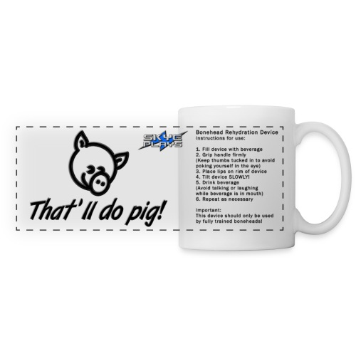 That'll do pig! Piggles Logo BRD (Mug) - Panoramic Mug