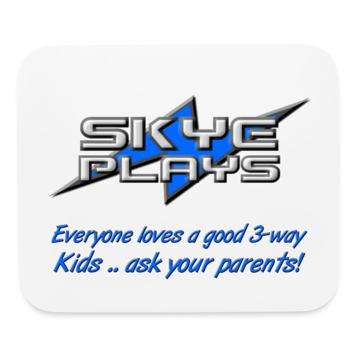 Kids ask your parents (Blue) - Mouse pad Horizontal
