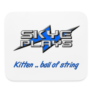 Kitten .. ball of string (Blue) - Mouse pad Horizontal