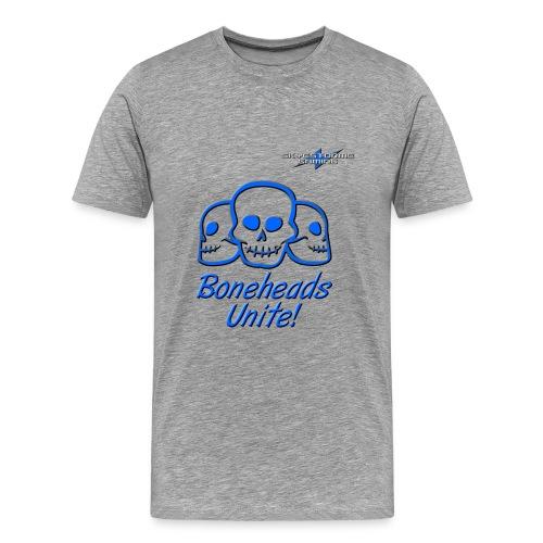 Boneheads Unite! (Blue) - Men's Premium T-Shirt